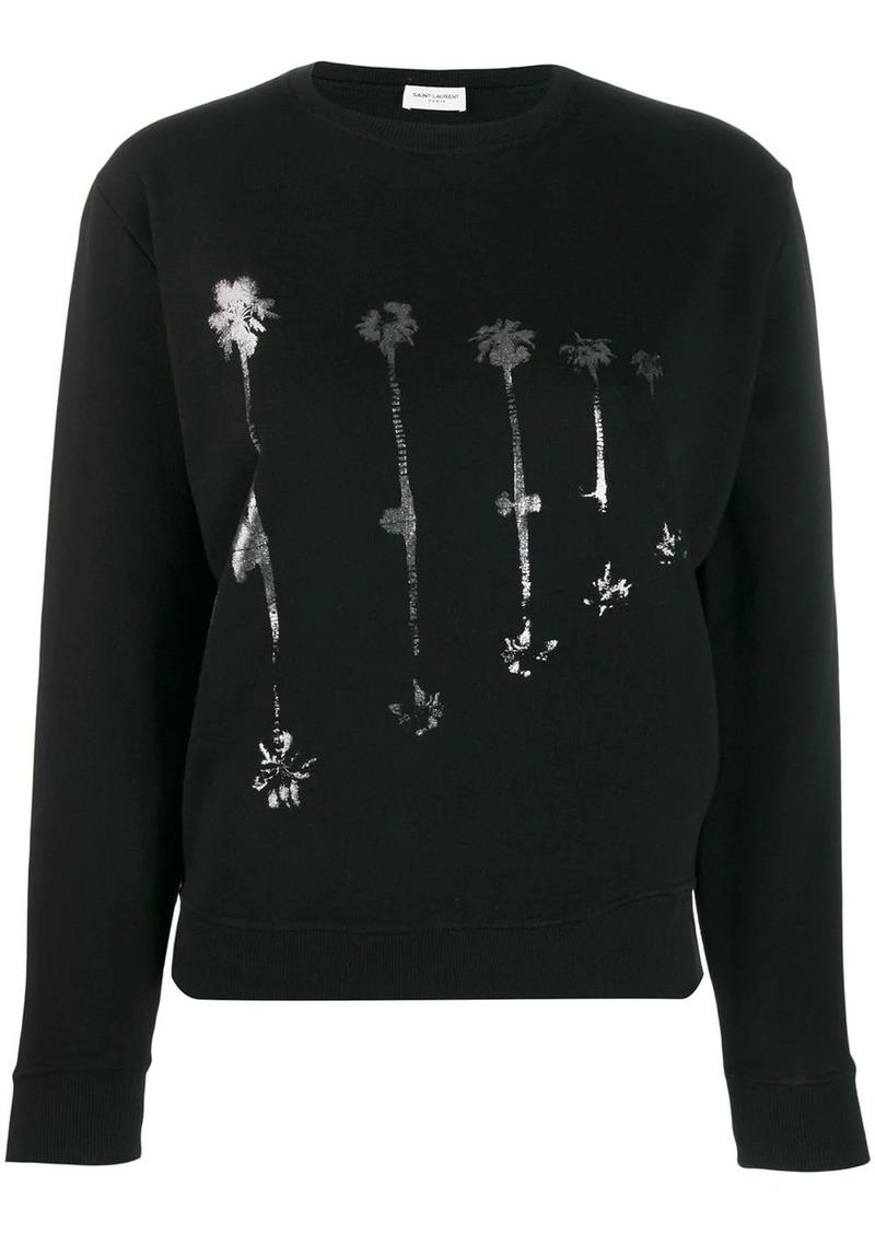 Saint Laurent palm tree print sweatshirt