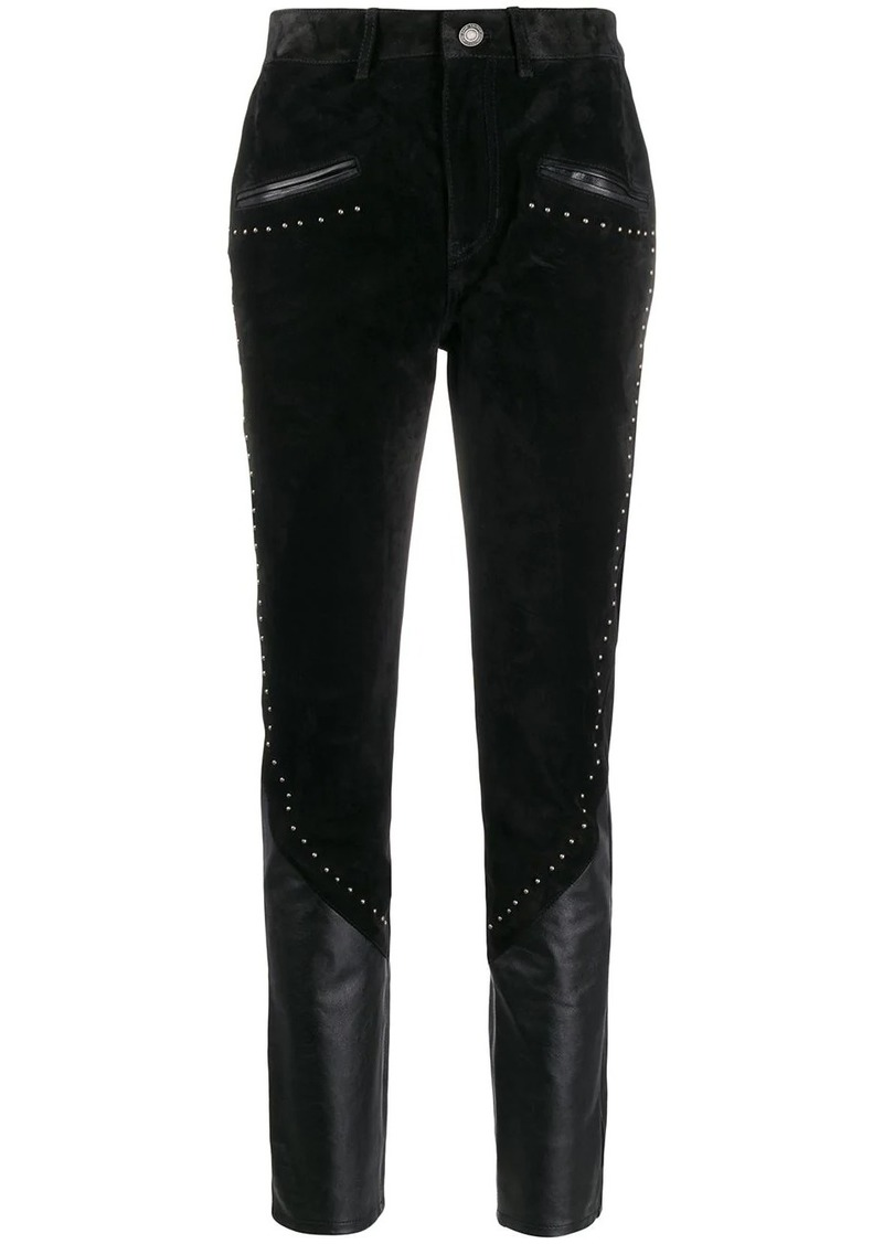 Saint Laurent panelled studded trousers
