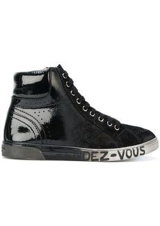 Saint Laurent patent hi-top sneakers