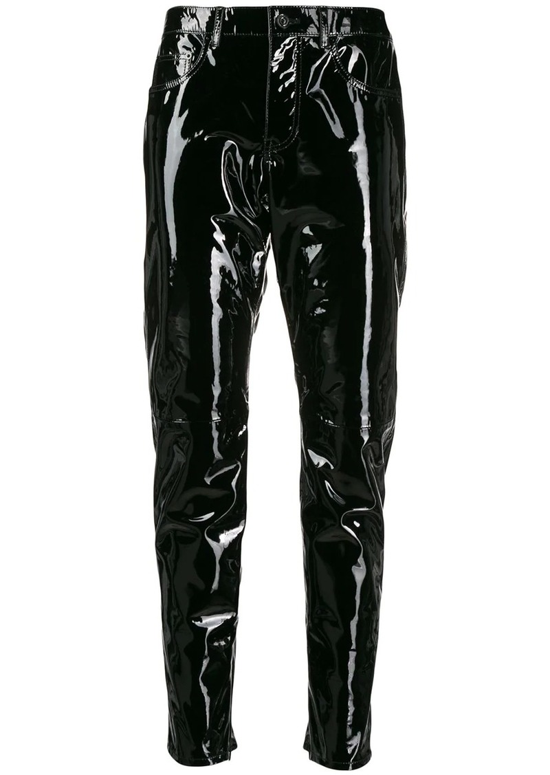 Saint Laurent patent leather trousers