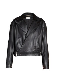 Saint Laurent Oversized Leather Jacket