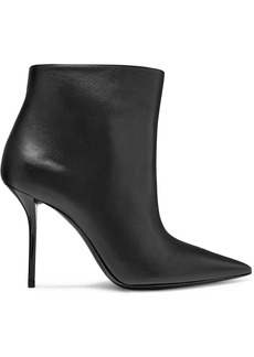 Saint Laurent Pierre Leather Ankle Boots
