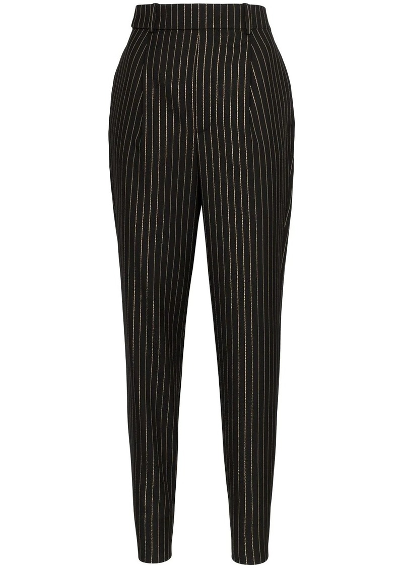 Saint Laurent pinstripe pleated trousers