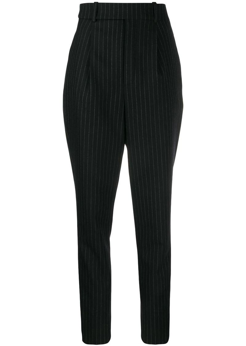 Saint Laurent pinstriped high waisted trousers
