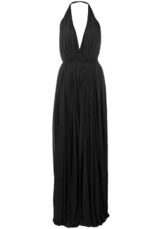 Saint Laurent pleated evening dress