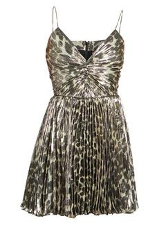 Saint Laurent Pleated Mini Dress