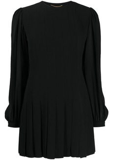 Saint Laurent pleated skirt dress