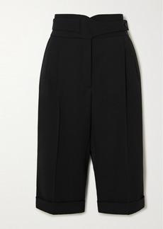 Saint Laurent Pleated Wool-twill Shorts