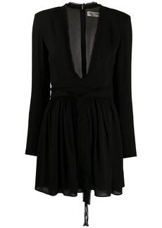 Saint Laurent plunge v-neck dress