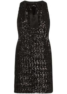 Saint Laurent plunging sequinned dress