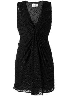 Saint Laurent point d'esprit mini dress