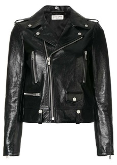 Saint Laurent polished classic motorcycle jacket