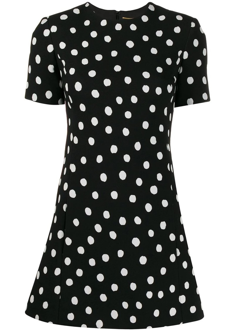 Saint Laurent polka dot mini dress