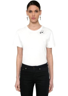 Saint Laurent Printed Cotton Jersey T-shirt