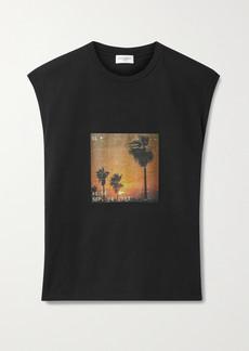 Saint Laurent Printed Cotton-jersey Tank