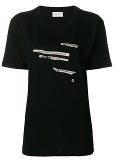 Saint Laurent printed text T-shirt