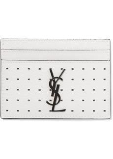 Saint Laurent Printed Textured-leather Cardholder