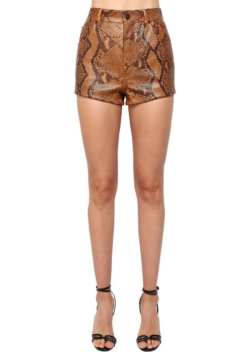 Saint Laurent Python High Waist Shorts