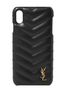 Saint Laurent Quilted Leather Iphone X/xs Cover