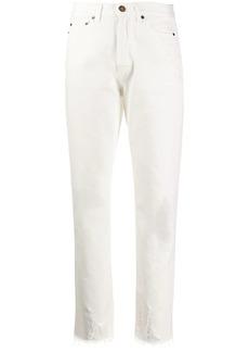 Saint Laurent Raw-edge straight-leg jeans