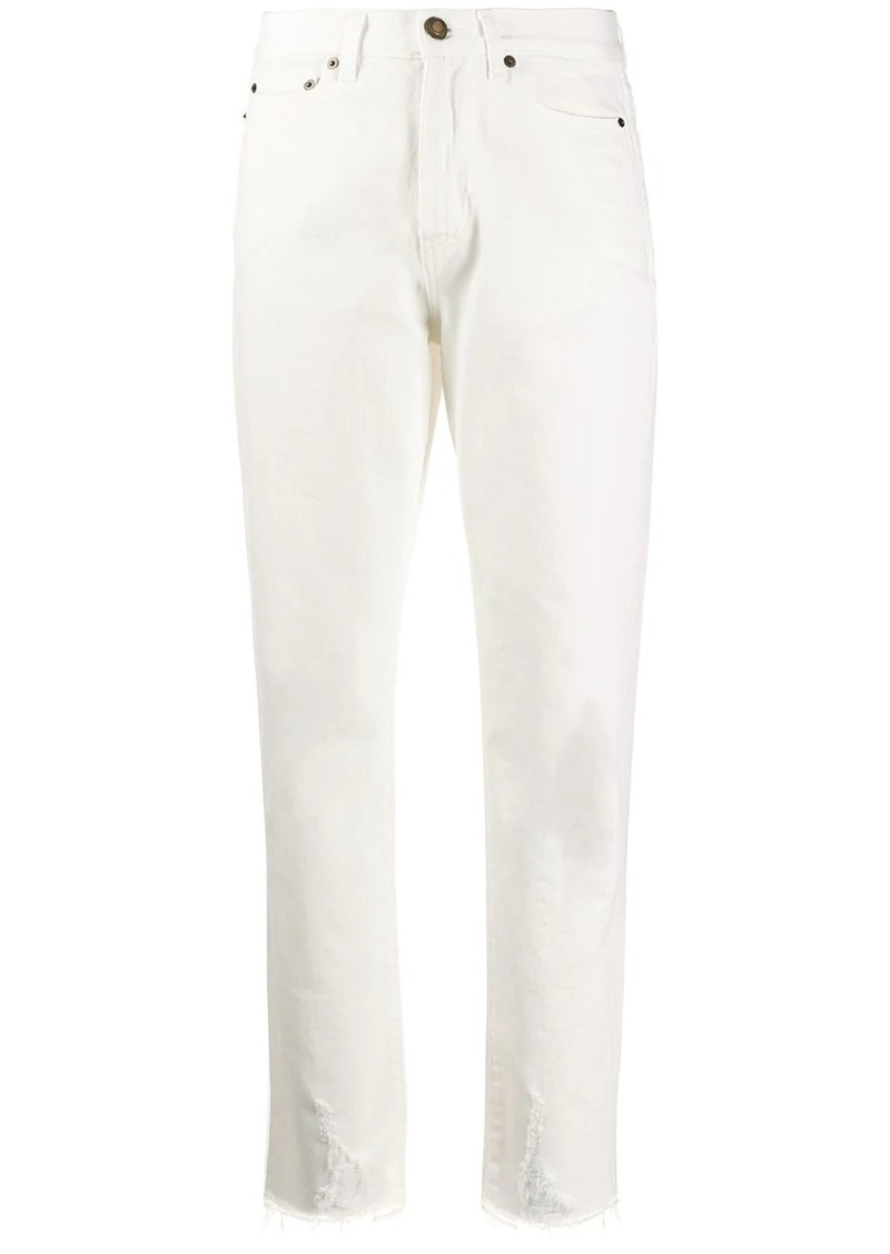 Saint Laurent raw-edge straight leg jeans