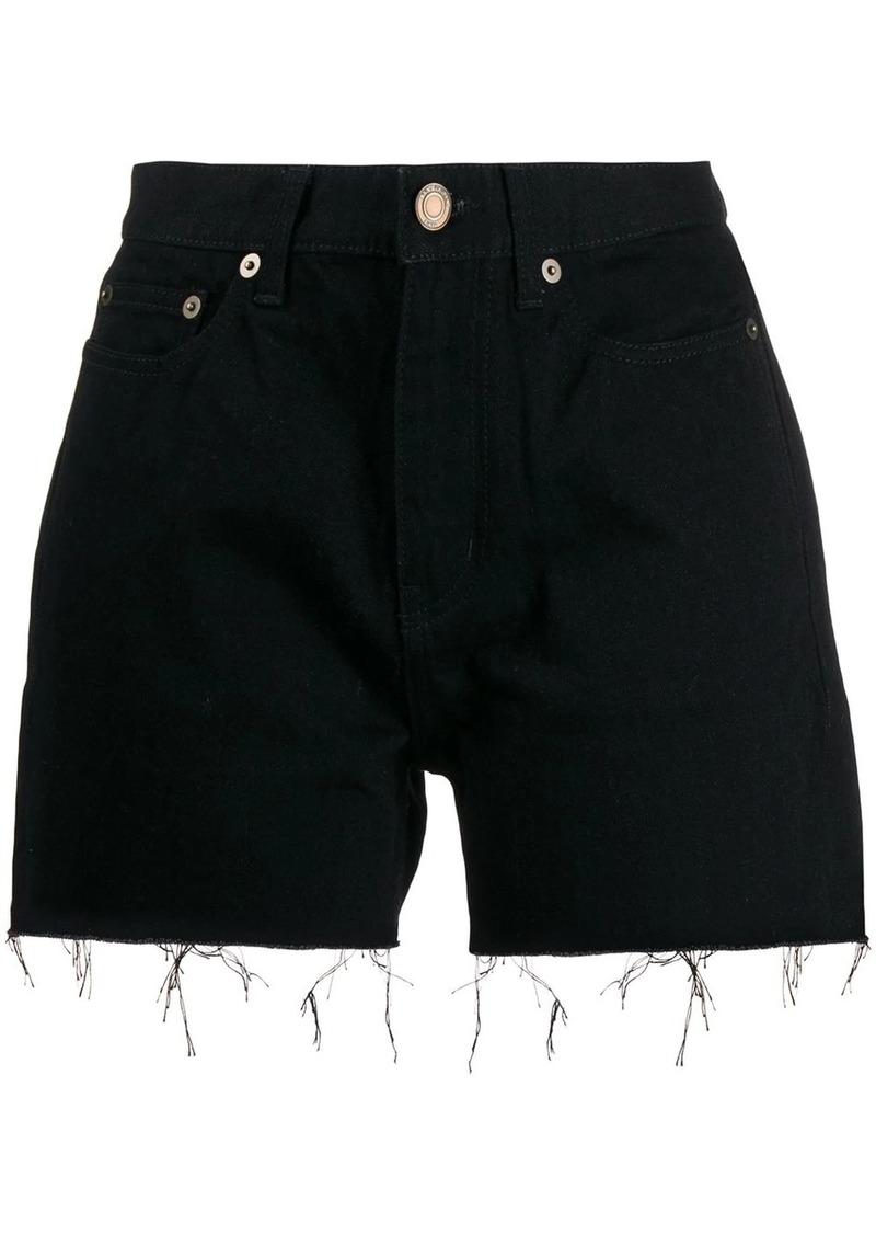 Saint Laurent raw hem denim shorts