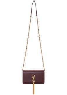 Saint Laurent Red Kate Tassel Chain Wallet Bag