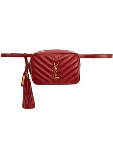 Saint Laurent Red Lou Belt Bag