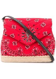 Saint Laurent red Loulou Toy mini paisley print cotton shoulder bag