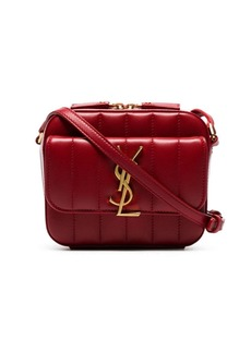 Saint Laurent red vicky padded-leather camera bag