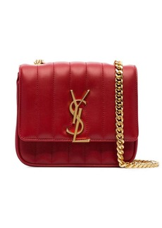 Saint Laurent red Vicky small quilted leather bag