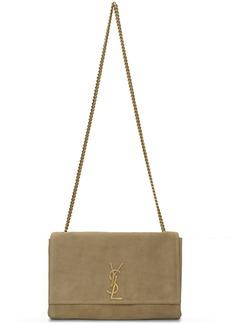 Saint Laurent Reversible Beige Medium Suede Kate Chain Bag
