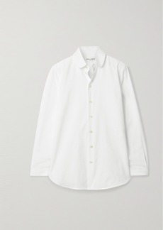 Saint Laurent Ribbed Cotton-poplin Shirt