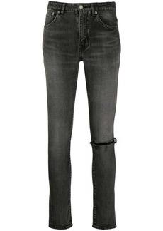 Saint Laurent ripped knee skinny jeans