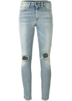 Saint Laurent ripped skinny jeans