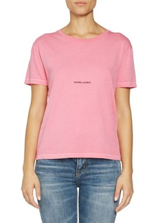 Saint Laurent Rive Gauche Cotton T-Shirt