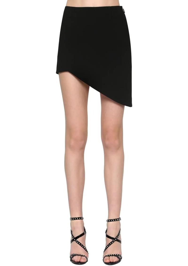 Saint Laurent Sable Asymmetric Viscose Blend Skirt