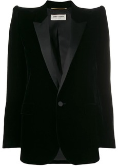 Saint Laurent exaggerated shoulder blazer