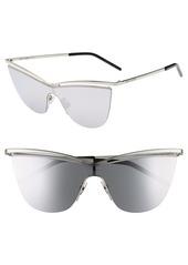 Saint Laurent 134mm Cat Eye Shield Sunglasses