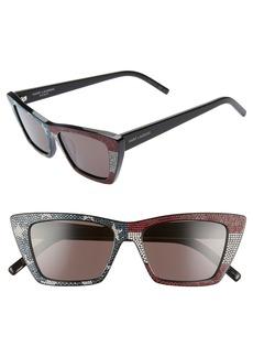 Saint Laurent 53mm Cat Eye Sunglasses