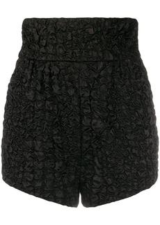 Saint Laurent textured short high-waisted shorts