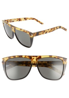 Saint Laurent 59mm Flat Top Sunglasses