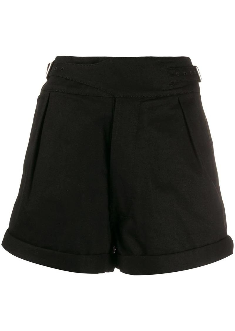Saint Laurent belted high-rise shorts