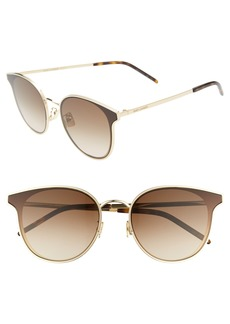 Saint Laurent 64mm Oversize Flat Front Round Sunglasses