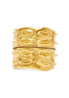 Saint Laurent Anamalier crocodile gold-tone cuff