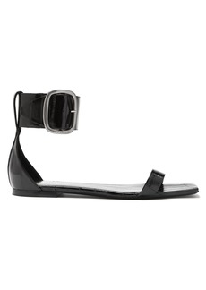 Saint Laurent Ankle-strap flat leather sandals
