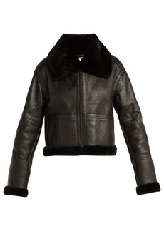 Saint Laurent Aviator leather and shearling jacket