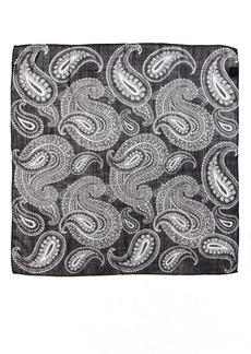 Saint Laurent Bandana Paisley Wool Scarf