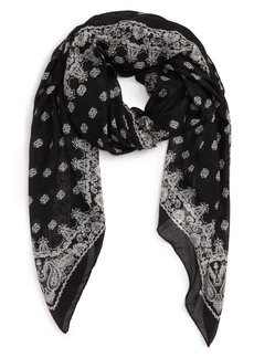 Saint Laurent Bandana Print Cashmere & Silk Scarf