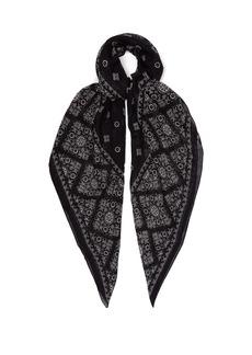 Saint Laurent Bandana-print wool scarf